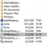 備份出來的檔案會以PIB格式儲存,可隨意將這個檔案複製到不同的資料夾,檔案名稱會以日期來分別。