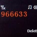 輸入電話號碼會以橙色字體顯示。