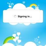 登入時會有相關的畫面,用Wi-Fi登入需時數秒時間。