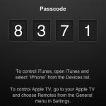 按下後會出現一個4位數字的編號,這個編號用以跟iTunes連接之用,這時iTunes會出現Devices一項,裡面會列出裝置名稱,例如晝面中的iPhone。當按下後便要輸入iPhone列出的4位數字,用以進行配對之用,其原理跟平時使用藍牙相同,只不過是透過Wi-Fi連接而已。