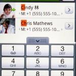 HTC也在手機介面加入智能搜尋功能,查找聯絡人更方便。