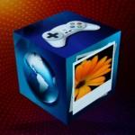 另外也內置6個預設多媒體功能的3D立方體介面,一按即能使用裡面的功能。